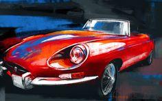 Jaguar E Type by Swaroop Roy