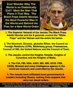 """The Most Powerful Man In The World - """"The Black Pope"""" Petrus Romanus? - 12160"""