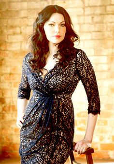 Laura Prepon- Emmy Magazine, in Adrianna Papell