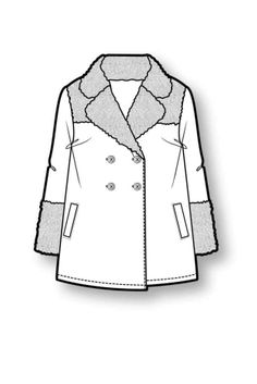Outerwear...neutral or pink colored coat with faux fur