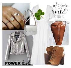"""""""Girl's Power"""" by fishshow ❤ liked on Polyvore featuring WithChic, Mara Hoffman, Kate Sheridan, Jessica Simpson, girlpower and powerlook"""