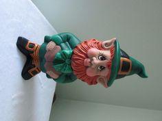 Leprechaun Statue for St Patricks Day - Lucky Leprechaun - Saint Patricks day decoration - St. Paddy's Day by TeresasCeramics on Etsy https://www.etsy.com/listing/68746321/leprechaun-statue-for-st-patricks-day