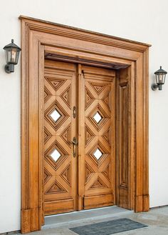 Wooden doors - Drzwi drewniane wewnętrzne i zewnętrzne - Gierszewski Best Picture For wooden doors colour For Your Taste You are looking for something, and it is going to tell you exactly what y Wooden Front Door Design, Double Door Design, Wooden Front Doors, Door Gate Design, Wooden Double Doors, Single Main Door Designs, Modern Entrance Door, Modern Wooden Doors, Modern Door