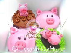 Piggy Cupcakes #HappyCupcake