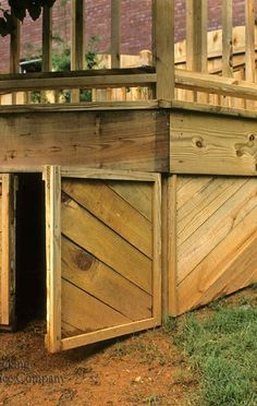 Your deck& utility isn& limited to what& up top. Under deck storage keeps items sheltered while maximizing space. Browse our under deck storage options. Deck Building Plans, Deck Plans, Building A Shed, Porch Plans, Diy Storage Shed Plans, Wood Shed Plans, Storage Ideas, Shed Design, Deck Design