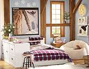 Rustic Burton Bedroom | with additional woodland animal theme would look fab in teen girl room!