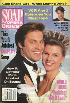 classicsodcovers:  Classic SOD Cover Date: October 29, 1991 Jon Hensley & Heather Rattray (Holden & Lily, AS THE WORLD TURNS)(inset) Matthew Ashford (Jack, DAYS OF OUR LIVES)