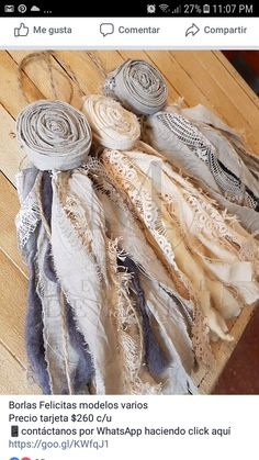 Diy Flowers, Fabric Flowers, Paper Flowers, Craft Projects, Sewing Projects, Shabby Chic Crafts, Diy Tassel, Sewing Art, How To Make Bows