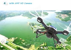JJRC H12C Headless Mode One Key Return RC Quadcopter With 5MP Camera Sale-Banggood.com