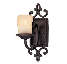 The definition of true Tuscan styling, this wall sconce is exquisitely designed…