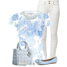 """""""Floral Top 2"""" by daiscat on Polyvore"""
