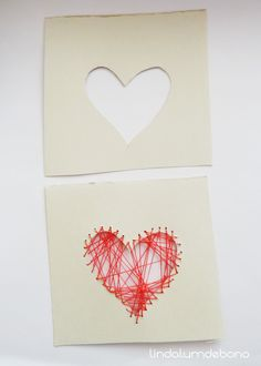 heart sewing card