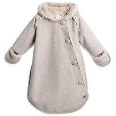 Kid's Company Beige Synthetic Sheepskin Baby Snowsuit at Childrensalon.com