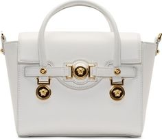 •Website: http://www.cuteandstylishbags.com/portfolio/versace-white-leather-gold-medallion-shoulder-bag/ •Bag: Versace White Leather Gold Medallion Shoulder Bag