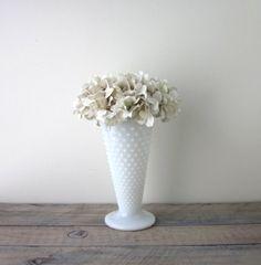 Large Milk Glass Vase Hobnail by 22BayRoad on Etsy, $15.00