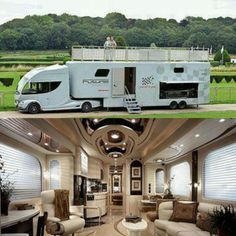 This Luxury RV Is Basically a Palace on Wheels. There are a lot of kinds of RVs out there. Big RVs have a lot of storage. RV Covers Protects promises to supply our clients with the greatest knowledg. Kombi Trailer, Kombi Motorhome, Camper Trailers, Camper Van, Mini Camper, Horse Trailers, Travel Trailers, Moto Home, Luxury Motorhomes