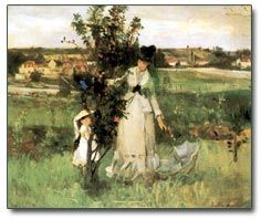 Morisot  Cache-cache. 1873  Huile sur toile: 45 x 55 cm  Bataille / Wildenstein 27  New York, Mrs. John Hay Whitney Collection