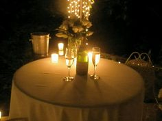 Romantic backyard dinner