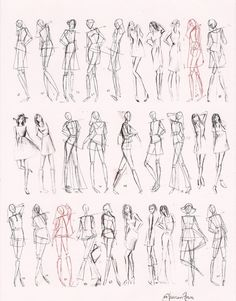 Gesture Fashion Figures minute & 5 minutes) - Images For > How To Draw Fashion Figures In Simple Steps - Illustration Tutorial, Sketches Tutorial, Fashion Illustration Sketches, Fashion Sketchbook, Fashion Sketches, Dress Sketches, Fashion Design Illustrations, Fashion Model Sketch, Sketchbook Drawings