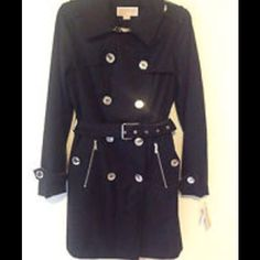 "Selling this ""MICHAEL KORS BLACK DRESS TRENCH COAT JACKET XL NWT"" in my Poshmark closet! My username is: backbend31. #shopmycloset #poshmark #fashion #shopping #style #forsale #MICHAEL Michael Kors #Outerwear"
