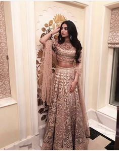 bollywood fashion Janhvi Kapoor / Khushi Kapoor on - Indian Lehenga, Indian Gowns, Indian Attire, Lehenga Choli, Pakistani Dresses, Anarkali, Pakistani Bridal, Pakistani Suits, Indian Prom Dresses