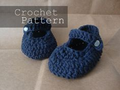 Maryjane Baby Shoes Crochet Pattern by smallpackagess on Etsy, $6.00