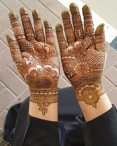 Best #91 Beautiful Front and Back Hand Mehndi Designs For Bridal!