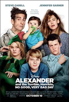 Steve Carell & Jennifer Garner & Miguel Arteta-Alexander and the Terrible, No Good, Very Bad Day Kid Movies, Family Movies, Funny Movies, Comedy Movies, Disney Movies, Movies To Watch, Movie Tv, Funny Family, Good Movies For Kids