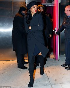 Always busy: Over the weekend Rihanna attended the Miyake Mugler House Ball in New York City