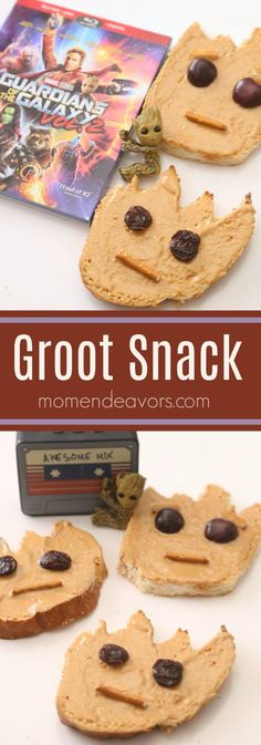 Easy Groot Snack, perfect for a Guardians of the Galaxy Party or Movie Night! Easy Groot Snack, perfect for a Guardians of the Galaxy Party or Movie Night! Movie Night For Kids, Dinner And A Movie, Snacks To Make, Healthy Snacks, Disney Food, Disney Recipes, Disney Diy, Disney Crafts, Birthday Dinners