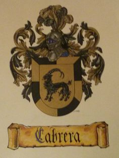 escudo heraldico del apellido Cabrera