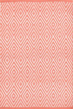 Dash & Albert | Diamond Coral/White Indoor/Outdoor Rug