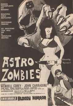 Sci Fi Horror Movies, Classic Horror Movies, Zombie Movies, Old Movie Posters, Horror Movie Posters, Film Posters, Vintage Posters, Old Movies, Vintage Movies