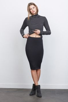 The softest pencil skirt you'll ever wear. Made from stretch modal, the Yuma by Amour Vert is an essential.