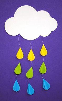 Diy...Móvil de lluvia para un cuarto infantil