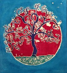 Batik Tree Mandala by Sita Schelin
