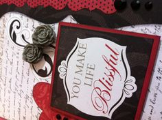 """Card using the CTMH """"For Always"""" paper.  Created by Amy Roll at www.letscropandroll.com"""