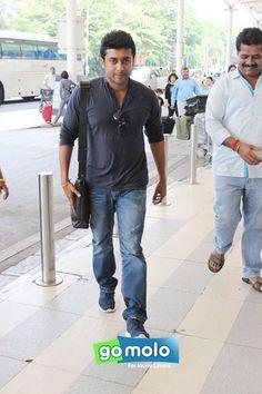 Surya Sivakumar snapped at Mumbai Domestic Airport