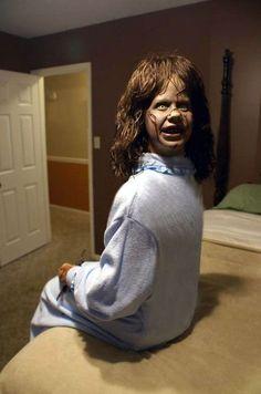 Homemade Halloween Props | Regan Halloween prop to end all Halloween props | Everything ... #HomemadeHalloweenDecorations