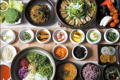"""Wine Pairing Ideas for Korean Food — The complexity of flavors in a Korean meal makes it nearly impossible to create a """"perfect"""" pairing, but you can partner wines to provide harmony. The  mix of salty, sweet, sour, bitter, and umami with spice pair better with wines that are dry to off-dry, not overly sweet or dense, and not too tannic."""