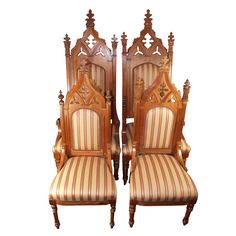 Pair Of American Gothic Chairs, 19th Century
