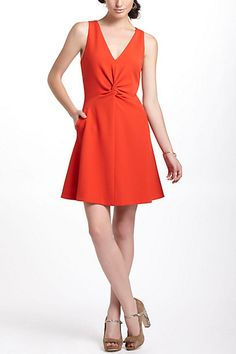 Twisted Crepe Mini Dress #anthropologie