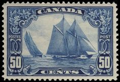 The 1929 50c dark blue Bluenose is one of my favorites. A cornerstone of any collection of Canadian stamps.
