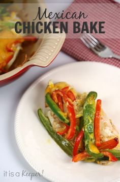 This Mexican Chicken Bake is a great easy recipe.  It's ready in 30 minutes and can even be made ahead of time!  via www.itisakeeper.com