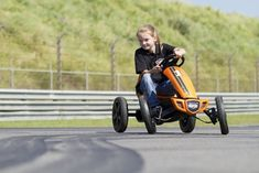 Berg Toys Compact Rally. The Rally Pedal Go Kart features an innovative design, awesome style, and incredible versatility. Engineered to comfortably fit different sized riders on a relatively small kart, the Rally is ideal for ages 4 to 12 years old.
