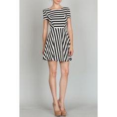 http://www.salediem.com/shop-by-size/small/stripe-dress.html #salediem #fashion #women'sfashion #tblackandwhite #lplus