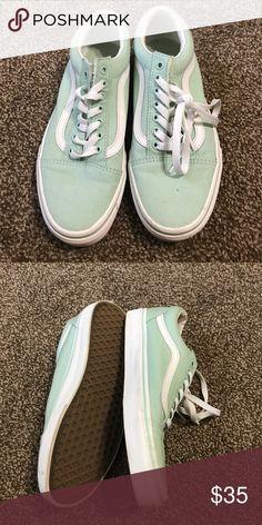 Mint Green Vans Like New Mint Green Vans Vans Shoes Sneakers