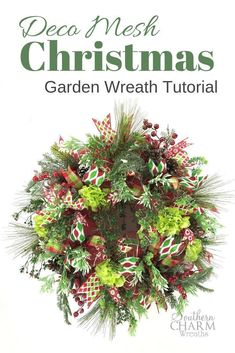 Learn to make over the top gorgeous Deco Mesh Wreaths! Tutorial by Southern Charm Wreaths Christmas Garden, Christmas Wreaths, Christmas Decorations, Holiday Decor, Winter Wreaths, Spring Wreaths, Christmas Ideas, Summer Wreath, Christmas Crafts