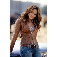 FashionableJennifer Lopez Brown Distressed Leather Jacket  Jennifer Lynn Lopezis an American actress, author, fashion designer, dancer, producer
