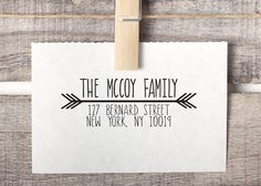 Custom Return Address Stamp Wood Mounted and by HelloWorldStamps